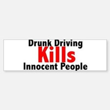 Drunk Driving Kills Bumper Car Car Sticker