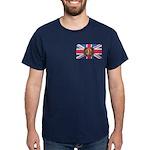 Oi! Crest Union Jack OiSKINBLU Dark T-Shirt