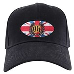 Oi! Crest Union Jack OiSKINBLU Black Cap