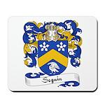 Seguin Family Crest Mousepad