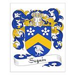 Seguin Family Crest Small Poster