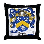 Seguin Family Crest Throw Pillow