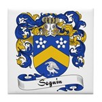 Seguin Family Crest Tile Coaster