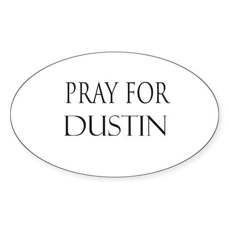 DUSTIN Oval Sticker