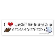 german shepherd Bumper Bumper Sticker
