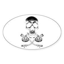 Skull & Crosstones Oval Decal