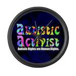 Autistic Activist v1 Large Wall Clock