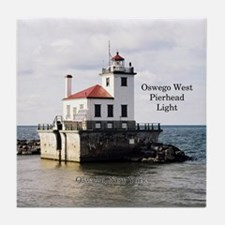 Oswego West Pierhead Light Tile Coaster