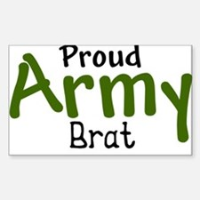 Proud Army Brat Rectangle Decal