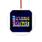 Autistic Activist v1 Ornament (Round)