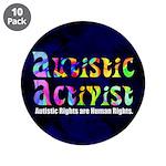 """Autistic Activist v1 3.5"""" Button (10 pack)"""