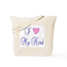 I Heart (Love) My Nerd 2 Tote Bag