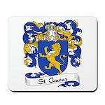 St. Amour Family Crest Mousepad