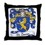 St. Amour Family Crest Throw Pillow