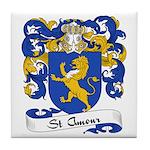 St. Amour Family Crest Tile Coaster