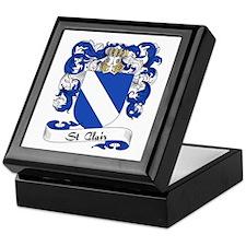 St. Clair Family Crest Keepsake Box