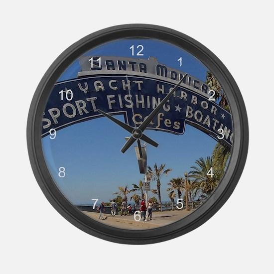 Santa Monica Pier Large Wall Clock