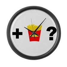 Want Fries? Large Wall Clock