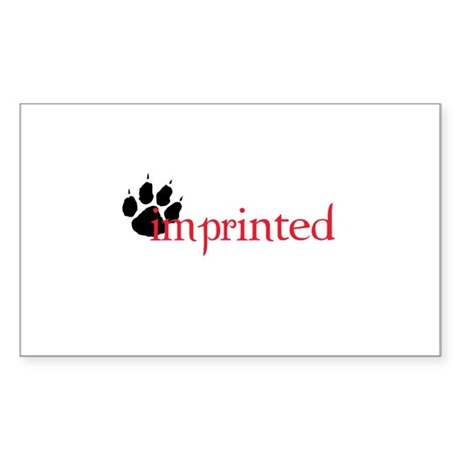 Imprinted Rectangle Sticker