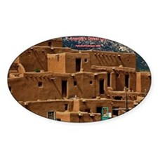 Taos Pueblo Oval Decal