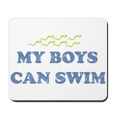 MY BOYS CAN SWIM Mousepad