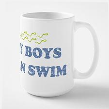MY BOYS CAN SWIM Large Mug