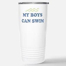 MY BOYS CAN SWIM Stainless Steel Travel Mug
