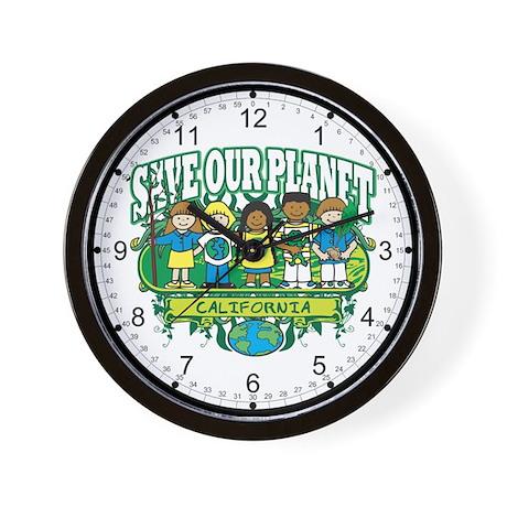 Earth Kids California Wall Clock