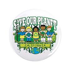 "Earth Kids California 3.5"" Button"