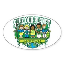 Earth Kids California Oval Decal