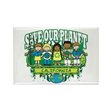 Earth Kids California Rectangle Magnet