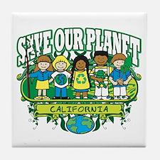Earth Kids California Tile Coaster
