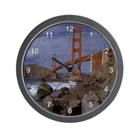 Golden Gate from the Pacific Wall Clock