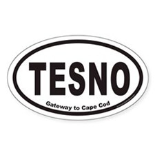 TESNO Gateway to Cape Cod Euro Oval Decal