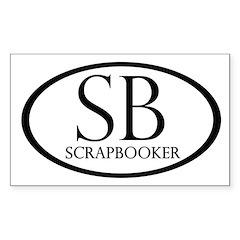 Scrapbooker Rectangle Sticker 10 pk)