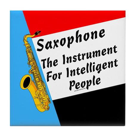 Sax Genius Tile Coaster