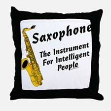 Sax Genius Throw Pillow