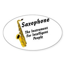 Sax Genius Oval Decal