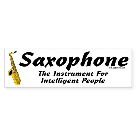 Sax Genius Bumper Sticker