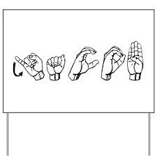 Jacob- ASL Yard Sign