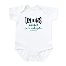 Unions Kicking Ass Onesie