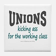 Unions Kicking Ass Tile Coaster