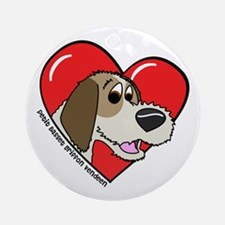 Cartoon PBGV Love Ornament (Round)