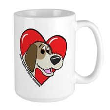 Cartoon PBGV Love Mug