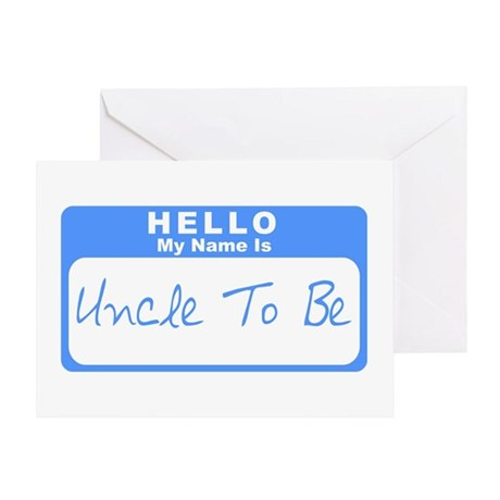 My Name Is Uncle To Be (Blue) Greeting Card