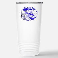 Jazz Blue Stainless Steel Travel Mug