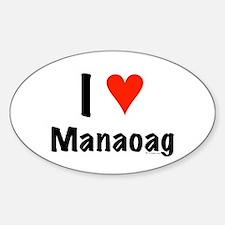 I love Manaoag Oval Decal
