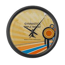 Gymnastics Teepossible.com Large Wall Clock