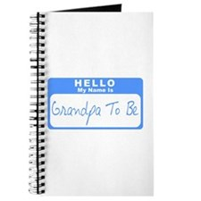My Name Is Grandpa To Be (Blue) Journal