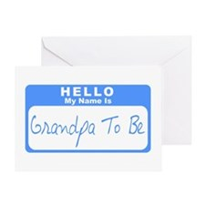 My Name Is Grandpa To Be (Blue) Greeting Card